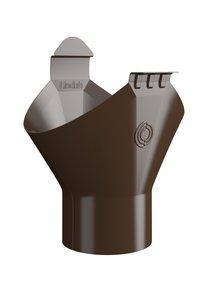 Lindab Dakgoot Uitloop OMV - Diam 150 mm - Naar HWA diam 100 mm - Kleur Bruin 434