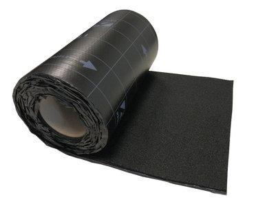 Ubiflex Zwart 25 cm x 12 mtr