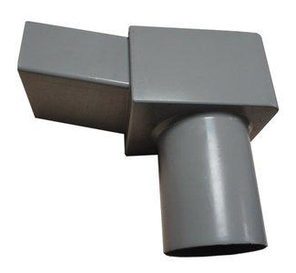 Vergaarbak Combi Dakuitloop PVC - 60 x 100 mm - diam. 80 mm