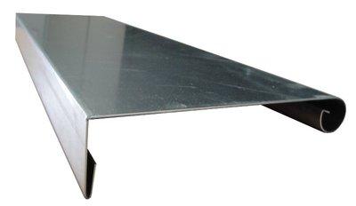 Deklijst op maat - Zink 14 (0,8 mm) - Lang 100 cm - 90 gr.