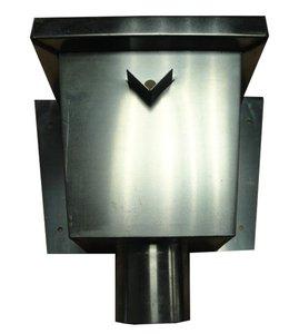 Vergaarbak Junior - Rechthoekig - Zink 14 (0,8 mm) - diam. 80 mm