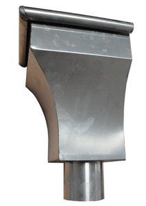 Vergaarbak AGS Hoekbak - Zink 14 (0,8 mm) - diam. 80 mm