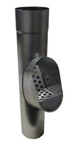 Bladvanger Zink tbv HWA - met zinken rooster - Diam 80 mm