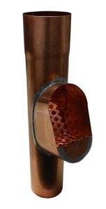 Bladvanger Koper - met koperen rooster - Diam 100 mm