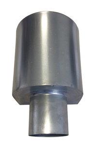 Vergaarbak Mini - Half rond - Zink 14 (0,8 mm) - diam. 100 mm
