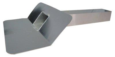 Kiezelbak Aluminium - 45 gr - 60 x 80 mm - t.b.v. Stadsuitloop - Lang 50 cm
