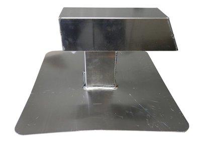 Airco-doorvoer Aluminium - 100 x 100 mm