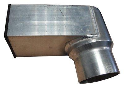 Stadsuitloop Aluminium - 60 x 80 mm - Diam 80