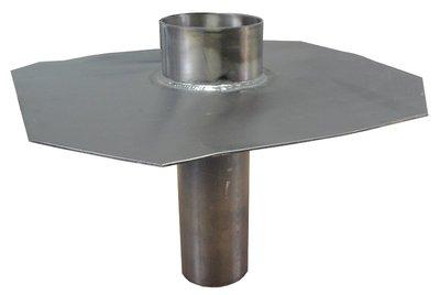 Noodoverloop Lood - Lang 30 cm - Diam 115 mm uitwendig (Passend in buis 125 mm)