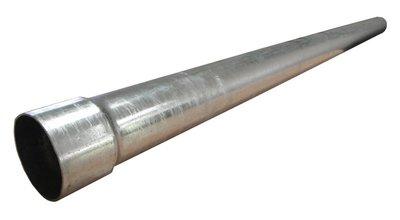 Ondereind Staal Verzinkt - Diam 80 mm - Lang 200 cm - Met Mof