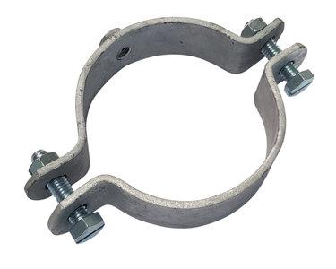 Verzwaarde Stalen penbeugel tbv Ondereind staal - Diam 100 mm