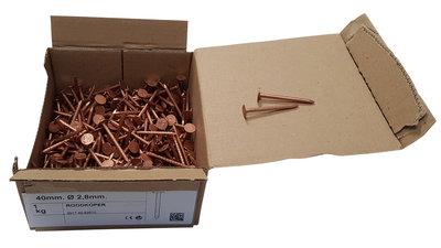 Koperen Leinagels Platte Kop- 2,8 x 30 mm - Doosje a 1 kg