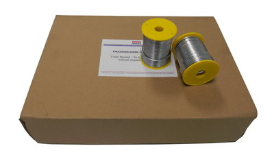 Draadsoldeer Tin Lood - 50/50 - Diam 3 mm - Per doos a 20 spoelen a 1 kg