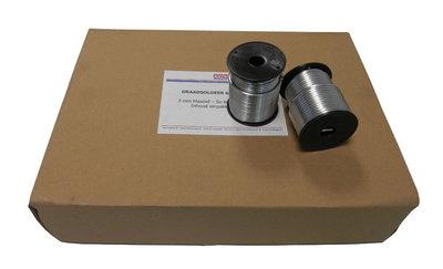 Draadsoldeer Tin Lood - 60/40 - Diam 3 mm - Per doos a 20 spoelen a 1 kg