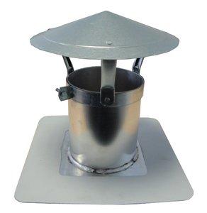 Enkelwandige Ontluchting ALU / PVC met Hoed - diam. 100 mm Inwendig