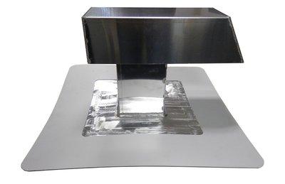 Airco-doorvoer ALU / PVC - 100 x 100 mm