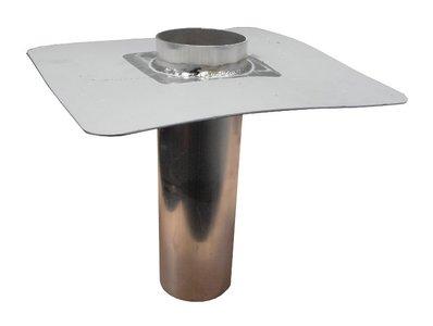 Noodoverloop ALU / PVC - Lang 30 cm - Diam 75 mm uitwendig (Passend in buis 80 mm)