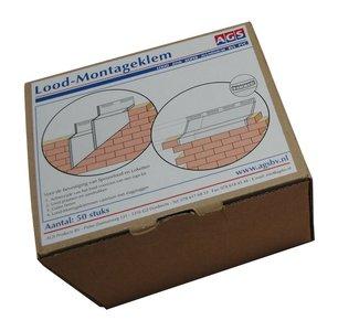 AGS Lood Montageklem RVS - 50 stuks per doos