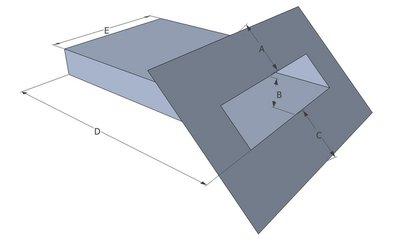 Spuwer Lood met Zinken Uitloop - Model Schuin 1