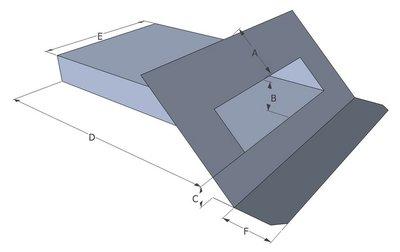Spuwer Lood met Zinken Uitloop - Model Schuin 2