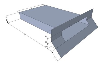 Spuwer Lood met Zinken Uitloop - Model Haaks/Schuin 1