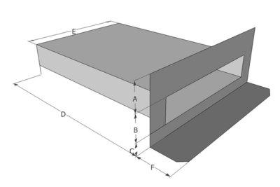 Spuwer ALU / PVC - Model Haaks 2
