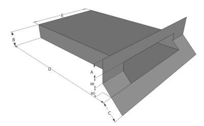 Spuwer PVC - Model Haaks/Schuin 1